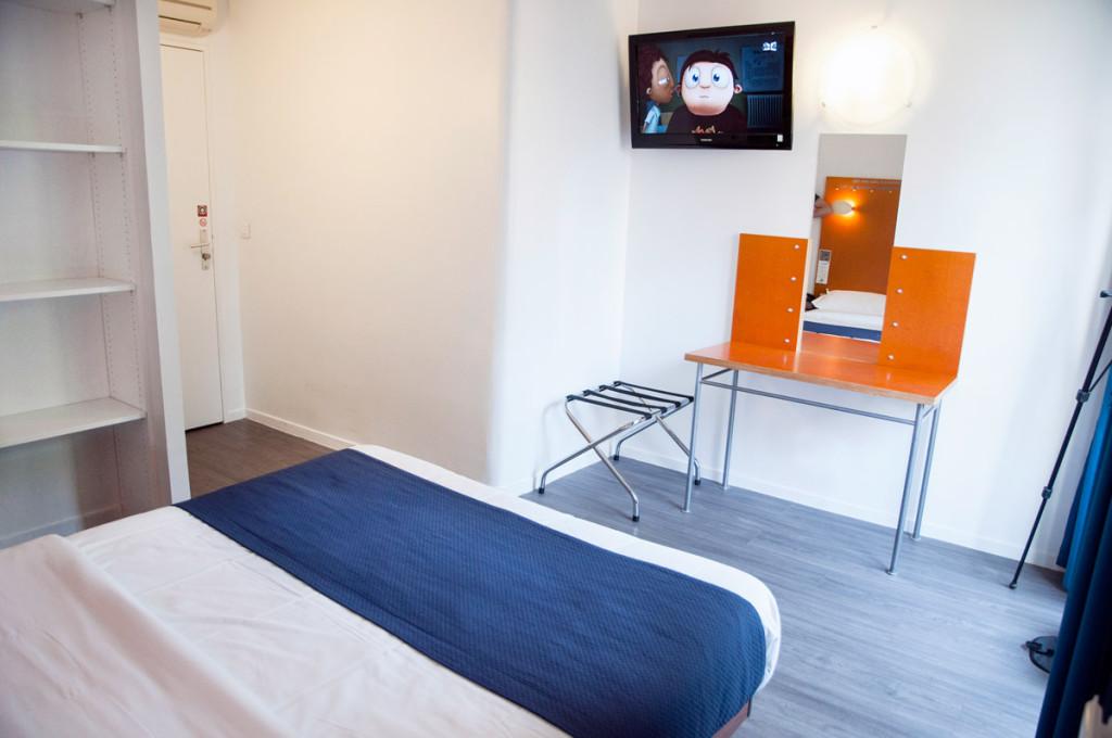 Solar Hôtel au centre de Paris. Une chambre double